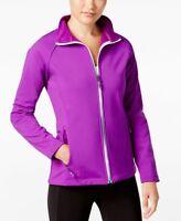 Ideology Womens Fall Softshell Fleece Outerwear Water Resistant Jacket Purple