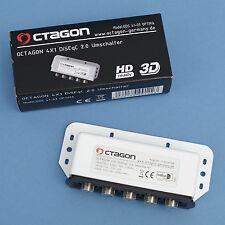 OCTAGON DiSEqC Schalter 41-03 / 4 auf 1 Umschalter / 4 LNB Satelliten HDTV 3D