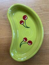 Fiesta® LEMONGRASS Light Green Bistro Crescent Plate HLCCA Cherries