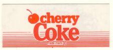 "Cherry Coke Vending Machine Insert, Red Lines Logo, 1 3/8"" x 3 3/8"""