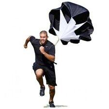 "56"" Speed Resistance Training Parachute Running Chute Football Exercise Black"