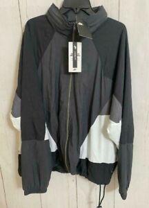 Men's Nike Sportswear Hooded Woven Jacket Anthracite Black AR1869-060 Size XL
