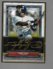 SAMMY SOSA 2020 Topps Museum Collection Gold ink autograph #9/10 Gold Frame