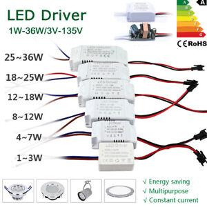 driver 220V LED Transformateur à DC12V 24V 36V Alimentation Adapter 300mA Pilote