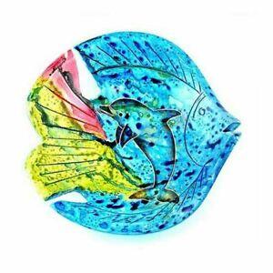 Small Bowl Fish Style Stone with Dolphin Design Nautical Theme Decor