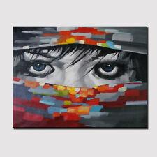 Large Oil Painting On Canvas Hand Painted Japanese Ninja Charming Eye Wall Arts