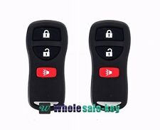 2X 3 Button Keyless Entry Remote Key Fob Transmitter Alarm Clickers(Fits:nissan)