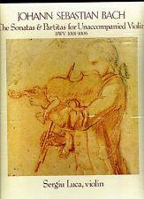 SERGIU LUCA-BACH SONATAS/PARTITAS FOR VIOLIN-3 LP BOX/NOTES-NONESUCH- FN