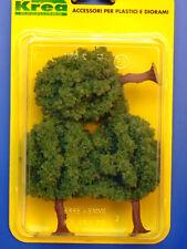Alberi da giardino per modellismo verde medio 3 pz. H.cm. 9  HO - 1/87 Krea