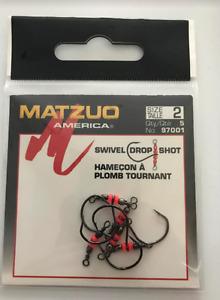 20 (4 packs of 5) Matzuo 97001 Drop Shot Swivel Hooks size 2