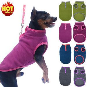 NEW 2021 Puppy Pet Cat Dog Fleece Warm Pullover Coat Vest Winter Apparel Outwear