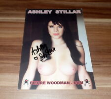 Ashley Stillar *TOP Pornostar Erotik Venus*, original signed Card 15x20 cm