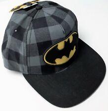 DC Comics Batman Snapback Adjustable Hat Cap Checkered - Flat Bill - New