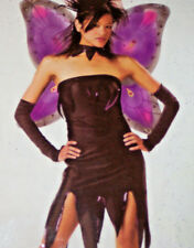 CALIFORNIA PIXIE Halloween Costume Evil Pixie Butterfly Wings Dress Jr Sz 3-5