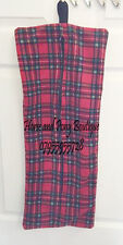 BRIDLE BAG Red tartan Zip up