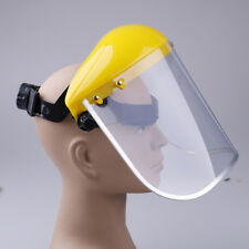 Yellow clear safety face shield screen mask for visors eye face protection