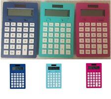 Tesco 12-Digit Mini Desktop Calculator - Pink Green Blue Fast & Free Delivery