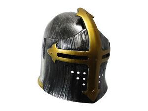 Child Knight Roman Armor Medieval Crusader Templar Helmet Flip Up Mask Costume