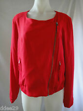 Miss Shop Ladies Red Zip Up Jacket Size 16