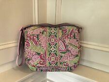 Vera Bradley Large Messenger Bag Pinwheel Pink Pattern