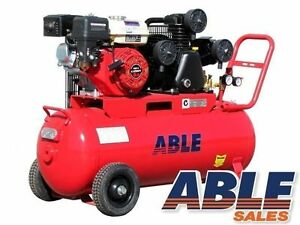 18CFM 145PSI AIR COMPRESSOR 6.5HP PETROL 100 LITRE