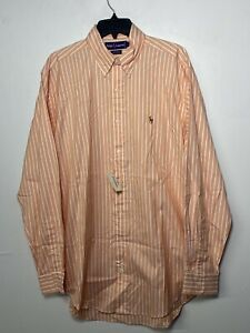 VINTAGE NWT Ralph Lauren Polo Mens Dress Shirt YARMOUTH 100% COTTON 16 35
