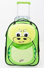 Kid's Dinosaur Soft Trolley Case by Cuties & Pals. School,Travel. Cabin Size.
