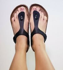 Birkenstock Women's Gizeh Thong Black Flip Flops Sandals! Size EU 40 US 9.5