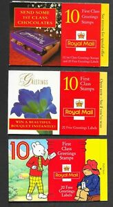 THREE BAR CODE BOOKLETS LESS FACE VALUE COMPLETE UM AS ISSUED POST FREE 2