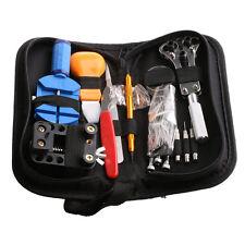 144Pcs Watch Repair Tool Set Kit Adjustable Back Case Opener Spring Bar Remover