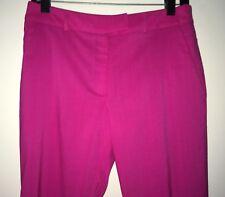Preen By Thornton- Bregazzi Women's Hot Pink Wool- Blend Capri Pants Size S