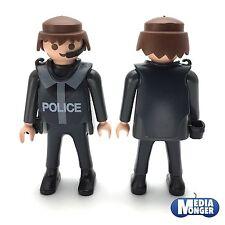 PLAYMOBIL ® polizia | sec: personaggio con Headset | Carro armato petto | pistole FONDINA v2