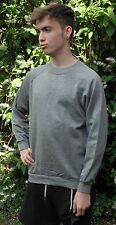 Plain Grey Sweatshirt Childrens Boys Girls Sizes  Poly/Cotton Made in The UK