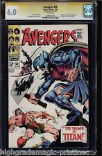 AVENGERS #50 CGC 6.0 WHITE PAGES STAN LEE SS SIGNED CGC #1206545020