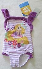 DISNEY PRINCESS RAPUNZEL Girls Size 2  Swimsuit NEW UPF 50+ bathers