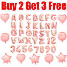 Rose Gold Alphabet A-Z Letter & Number Foil Balloon NAME PARTY WEDDING Balloons