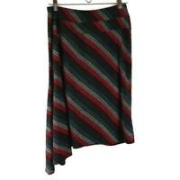 BCBG Paris Asymmetrical Striped Skirt Size Small