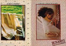 PUBLICITE ADVERTISING 055  1979  DESCAMPS LAINE  draps linge de maison ( 2 pages