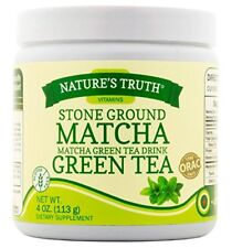 3 Pack Nature's Truth Stone Ground Matcha Green Tea Drink Powder 4oz Each