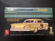 AMT 58 CHEVROLET IMPALA VINTAGE 3 IN 1 #2758-200 Nr MINT TROPHY SERIES ORIGINAL