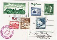 LUFTSCHIFF GRAF ZEPPELIN-FRANKFORT-HITLER-CROIX GAMMÉE-ENTIER POSTAL-01/12/1938