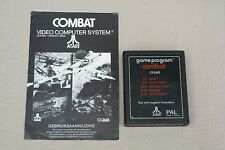 "Atari 2600 Vintage video game ""Combat"" 1982 with intruction manual"