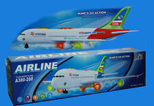 Kids/Child Electric Aeroplane A380 Model Airbus With Lights & Sounds Toy Gift UK