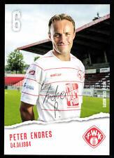 Peter Endres Autogrammkarte Würzburger Kickers 2013-14 Original Signiert+A 69860