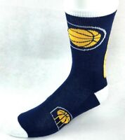 Indiana Pacers Basketball Navy White Yellow Jump Curve Crew Socks
