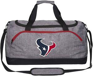 NFL Heather Gray Duffle Bag  Houston Texans