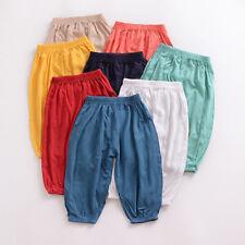 UK Toddler Kids Baby Boy Girl Cotton Harem Pants Trousers PP Leggings Sweatpants