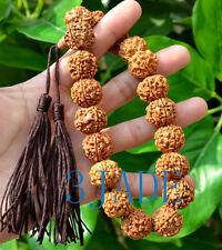 Tibetan Natural Rudraksha Bodhi Seed Mantra Meditation Prayer Beads