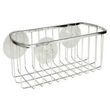 2PC Suction Rectangular Shower Basket in Chrome new