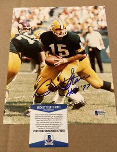 Bart Starr Signed 8X10 Green Bay Packers Photo W/HOF77 Beckett Cert